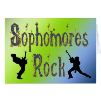 Roca de los estudiantes de segundo año - tarjeta de felicitación