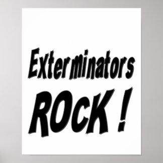 ¡Roca de los Exterminators Impresión del poster