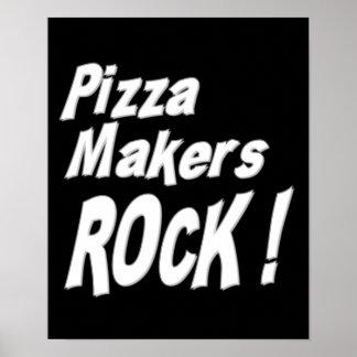 ¡Roca de los fabricantes de la pizza Impresión de