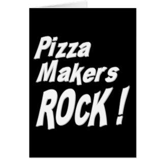 ¡Roca de los fabricantes de la pizza! Tarjeta de f