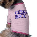 ¡Roca de los frikis!  Azul Camisetas Mascota