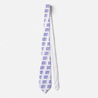¡Roca de los frikis!  Azul Corbata Personalizada