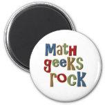 Roca de los frikis de la matemáticas iman para frigorífico