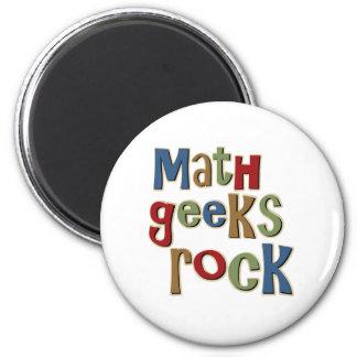 Roca de los frikis de la matemáticas imán redondo 5 cm