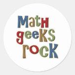 Roca de los frikis de la matemáticas etiqueta redonda