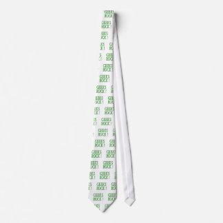 ¡Roca de los frikis!  Verde Corbatas Personalizadas