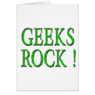 ¡Roca de los frikis Verde Tarjetas