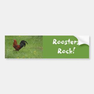 ¡Roca de los gallos! - pegatina para el parachoque Pegatina Para Auto
