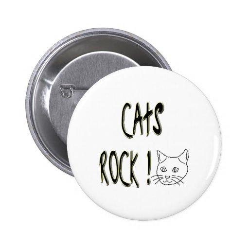¡Roca de los gatos! Botón