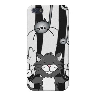 Roca de los gatos caso del iPhone 4 iPhone 5 Protector