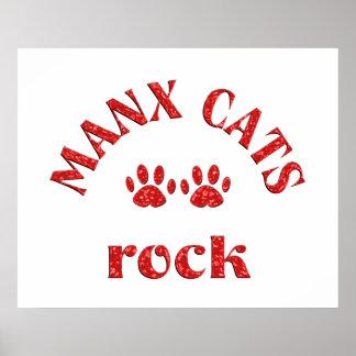 Roca de los gatos de la Isla de Man Poster
