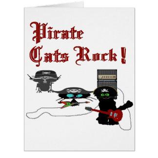Roca de los gatos del pirata felicitacion