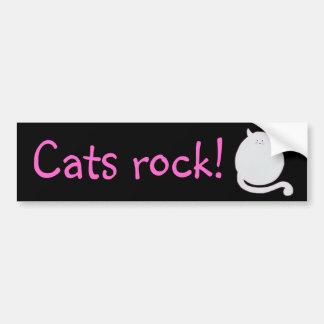 ¡Roca de los gatos! pegatina para el parachoques Pegatina Para Auto