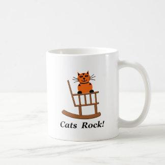 Roca de los gatos tazas de café
