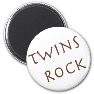 Roca de los gemelos imán redondo 5 cm