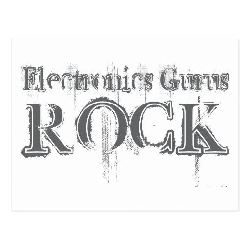Roca de los gurúes de la electrónica tarjeta postal