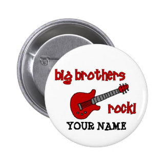 ¡Roca de los hermanos mayores! con la guitarra Pin Redondo De 2 Pulgadas