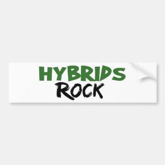 Roca de los híbridos pegatina de parachoque