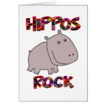 Roca de los hipopótamos felicitaciones