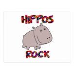Roca de los hipopótamos tarjetas postales
