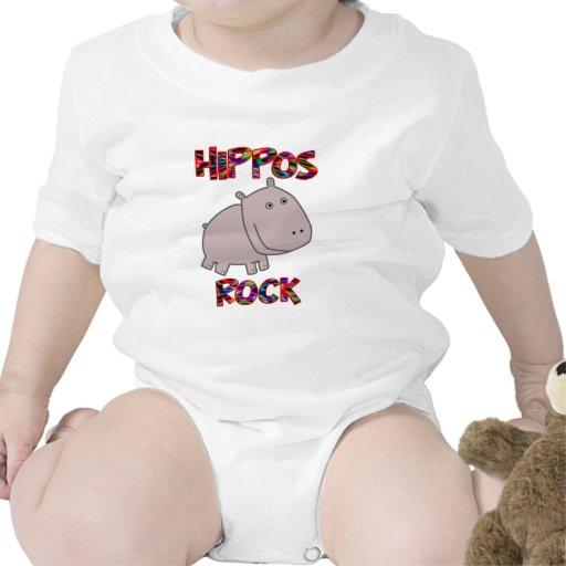 Roca de los hipopótamos trajes de bebé