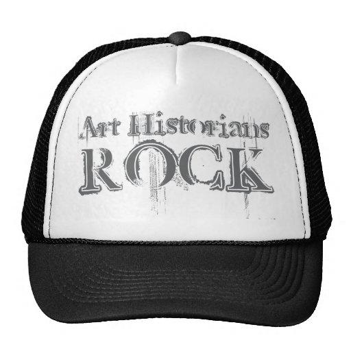 Roca de los historiadores de arte gorros bordados