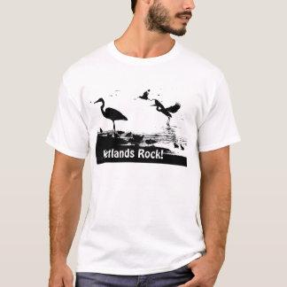 ¡Roca de los humedales! Camiseta de las siluetas