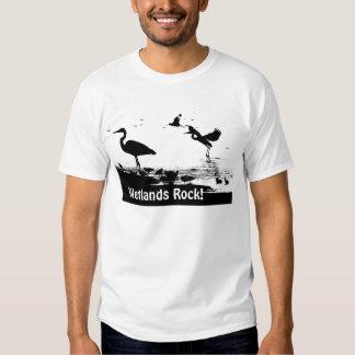 ¡Roca de los humedales! Camiseta de las siluetas Remera