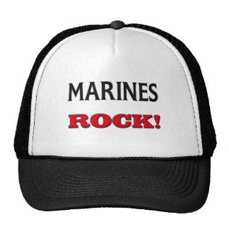 Roca de los infantes de marina gorros