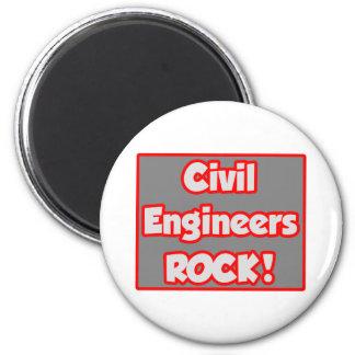¡Roca de los ingenieros civiles! Imán Redondo 5 Cm