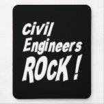 ¡Roca de los ingenieros civiles! Mousepad Tapetes De Ratones