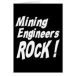 ¡Roca de los ingenieros de minas! Tarjeta de felic