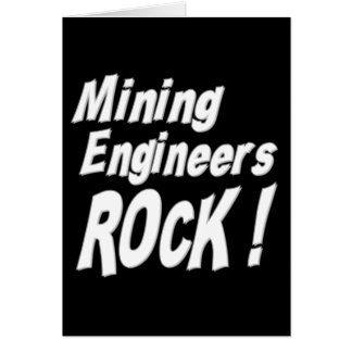 ¡Roca de los ingenieros de minas Tarjeta de felic