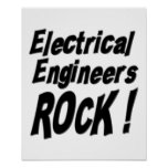 ¡Roca de los ingenieros eléctricos! Impresión del