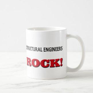 Roca de los ingenieros estructurales taza básica blanca