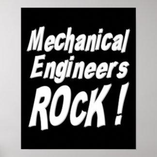 ¡Roca de los ingenieros industriales! Impresión Póster