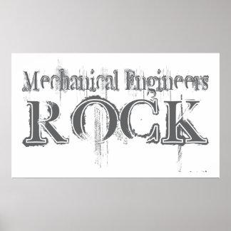 Roca de los ingenieros industriales póster