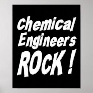 ¡Roca de los ingenieros químicos! Impresión del po Posters