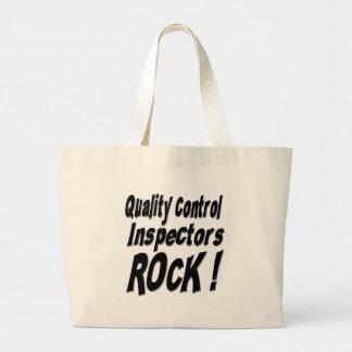 ¡Roca de los inspectores de control de calidad! La Bolsa Tela Grande