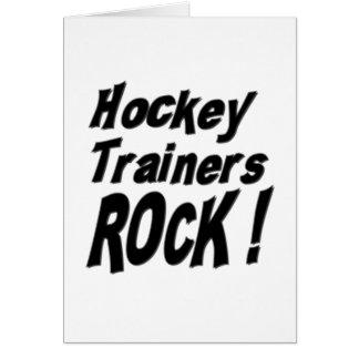 ¡Roca de los instructores del hockey! Tarjeta de f