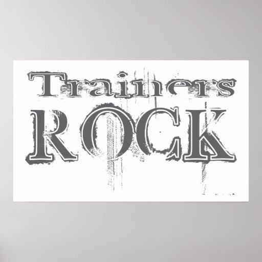 Roca de los instructores póster