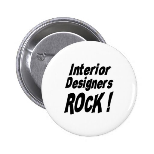 ¡Roca de los interioristas! Botón Pins