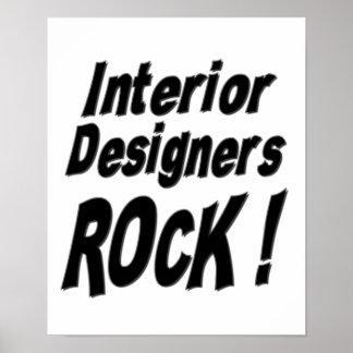¡Roca de los interioristas! Impresión del poster