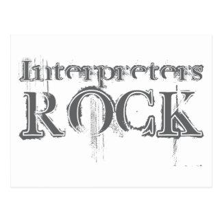 Roca de los intérpretes postal