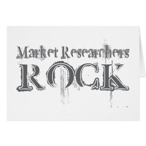 Roca de los investigadores de mercado felicitacion