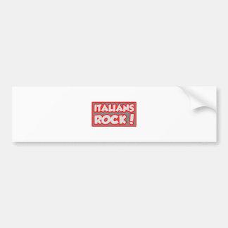 ¡Roca de los italianos! Pegatina Para Auto
