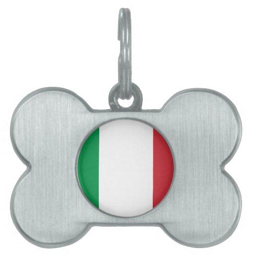 ¡ROCA de los italianos! Placas De Mascota
