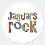 Roca de los jaguares etiquetas redondas