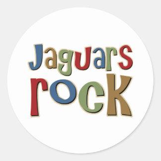 Roca de los jaguares pegatina redonda