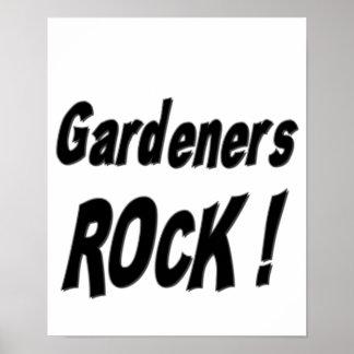 ¡Roca de los jardineros Impresión del poster